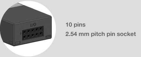 10 pins 2.54 mm pitch pin socket
